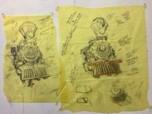 Original concept sketches, 1999