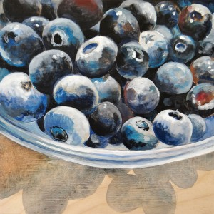 Blueberries still life painting