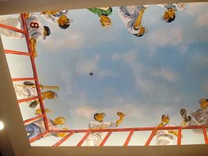 Raley Field Ceiling mural
