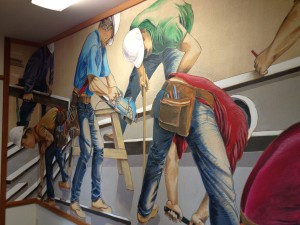 Construction mural