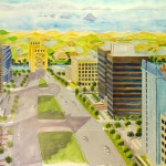 """Capitol Mall Looking West,"" inspired by the famous New Yorker cover."