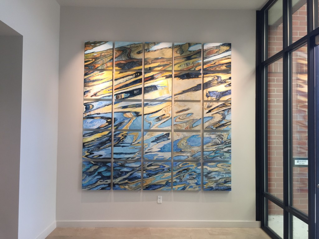 Acrylic and pencil on 25 panels, installed to 8x8'