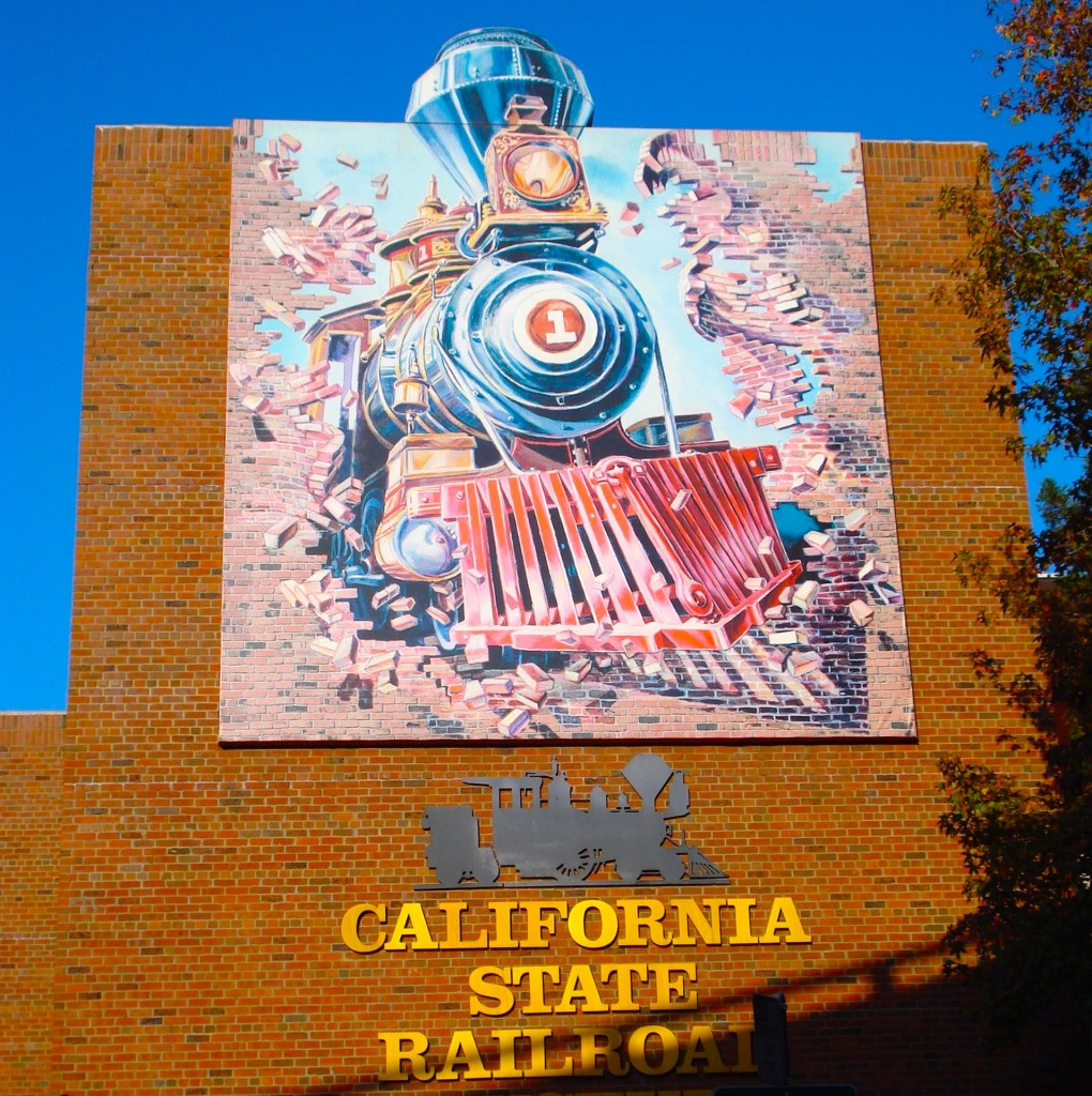 CA Railroad Museum, installed as a vinyl mural in 1999.